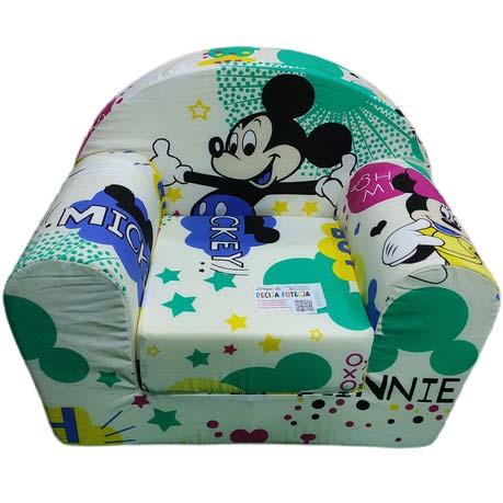 Miki maus bela foteljica za decu
