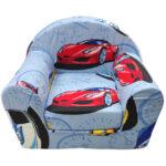 plava foteljica za decu autici