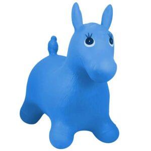 plavi gumeni konj za skakanje john