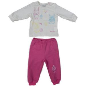 roze kompletic za bebe 0412