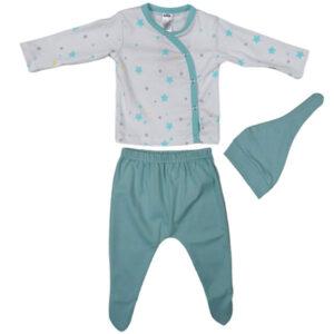 zeleno beli komplet za bebe decake 0418