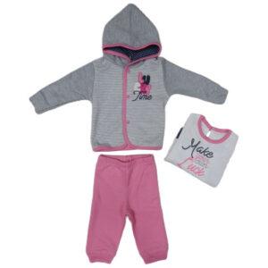 sivo roze trenerka za devojcice 0420