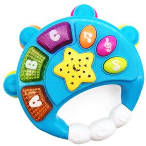 plava muzicka igracka za bebe Tambourine
