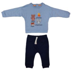 plavo crna trenerka za bebe 0400