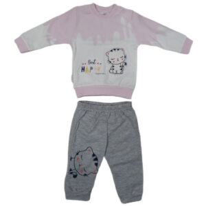 sivo roze trenerka za bebe 0402
