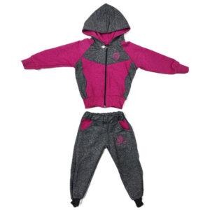 roze siva trenerka za bebe 0437