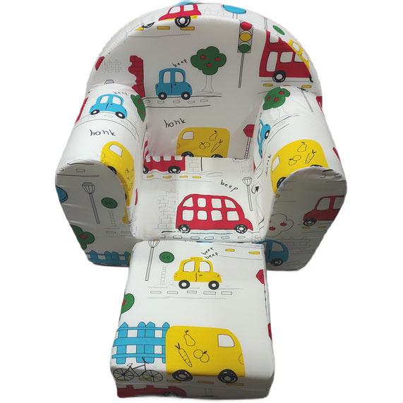 foteljica za decu bele boje brm